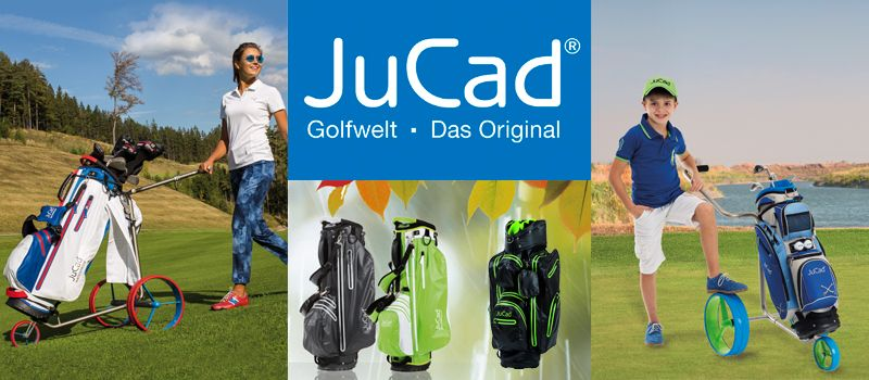 JuCad Golf Elektrotrolleys Golftrolleys Golfbags
