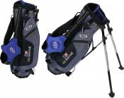 U.S. Kids Golf Ultralight Series Stand Bag (UL45 / 115-122cm), grau/blau