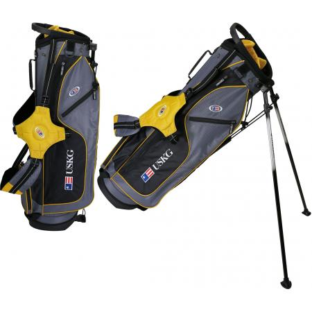 U.S. Kids Golf Ultralight Series Stand Bag (UL63 / 160-168cm), grau/goldgelb