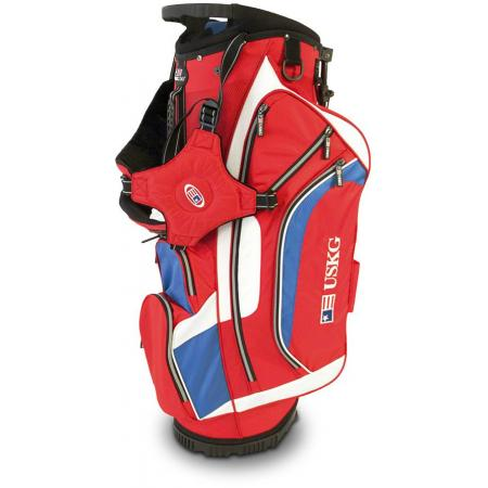 U.S. Kids Golf Carry & Cart Tournament Bag, rot/weiß/blau