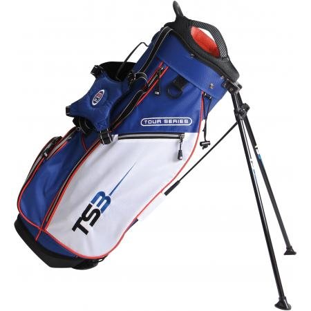 U.S. Kids Golf Tour Series Stand Bag, (TS51 / 130-137cm), blau/weiß/orange