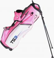 U.S. Kids Golf Tour Series Stand Bag, (TS51 / 130-137cm), pink/weiß
