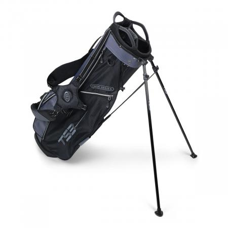 U.S. Kids Golf Tour Series Stand Bag, (TS66 / 168-175cm), schwarz/grau
