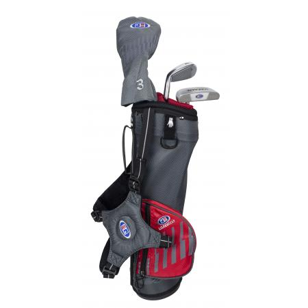 U.S. Kids Golf Starterset Ultralight UL39, 100-107cm, RH, grau/rot