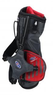 U.S. Kids Golf Ultralight Series Bag, UL39 / 100-107cm, grau/rot