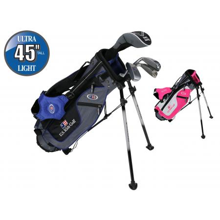 U.S. Kids Golf Starterset SO Ultralight UL45, 115-122cm, RH, grau/pink