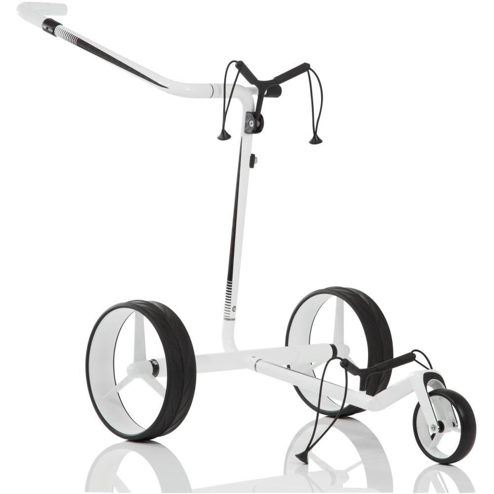 jucad carbon travel golf elektrotrolley wei schwarz. Black Bedroom Furniture Sets. Home Design Ideas