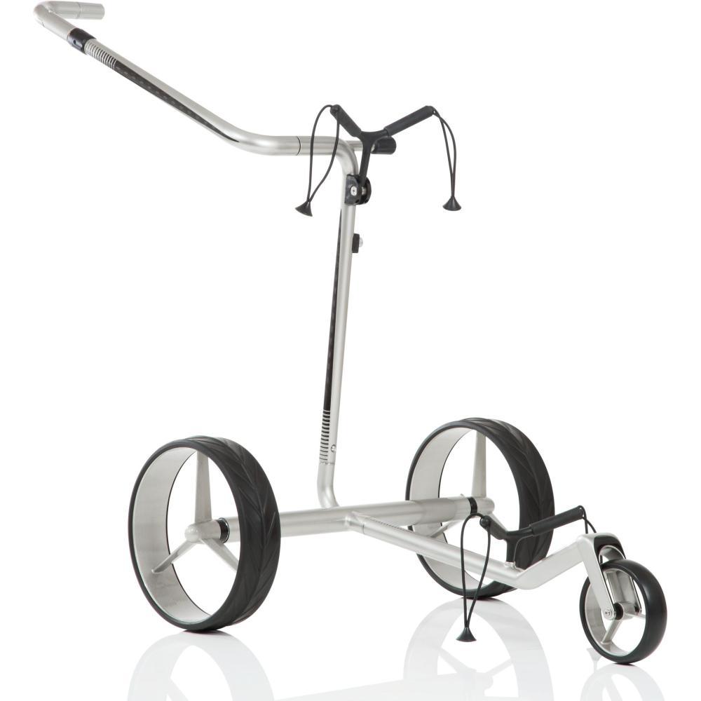 jucad carbon travel golf elektrotrolley silber schwarz. Black Bedroom Furniture Sets. Home Design Ideas