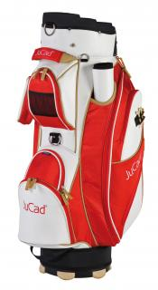 JuCad Cartbag Style, weiß/rot/beige