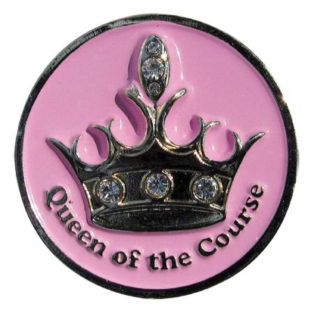 Navika Artsy Ballmarker &quote;Queen of the Course&quote;, pink