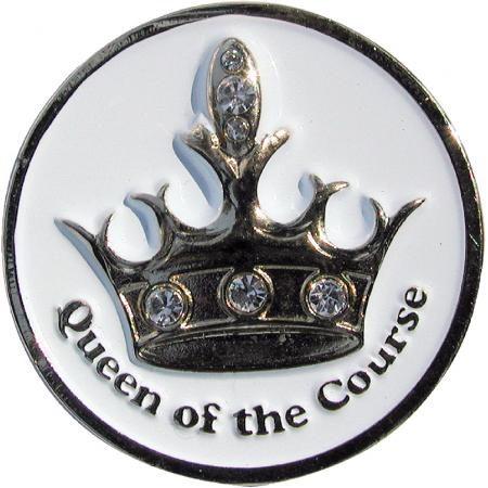 Navika Artsy Ballmarker &quote;Queen of the Course&quote;, weiß
