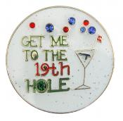 Navika Glitzy Ballmarker &quote;19th Hole&quote;
