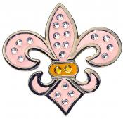 Navika Crystal Ballmarker &quote;Fleur de Lis&quote;, pink