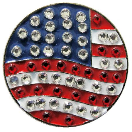 Navika Crystal Ballmarker &quote;US Flag&quote;