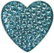 Navika Crystal Ballmarker &quote;Heart&quote;, blau