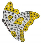 Navika Crystal Ballmarker &quote;Butterfly&quote;, gelb