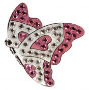 Navika Crystal Ballmarker &quote;Butterfly&quote;, pink