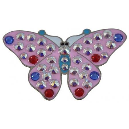 Navika Crystal Ballmarker &quote;Butterfly 2&quote;, pink