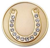 Navika Crystal Ballmarker &quote;Horseshoe&quote;, gold