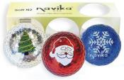 Bling (Metallic) Golfball-Set &quote;X-Mas&quote;