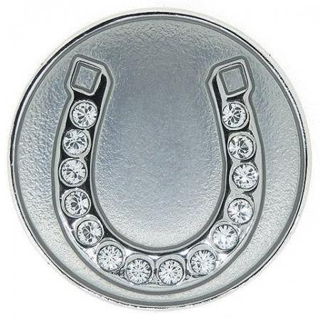 Navika Crystal Ballmarker &quote;Horseshoe&quote;, silber