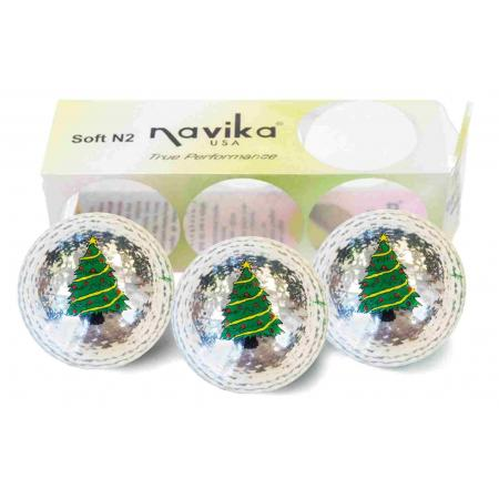 Bling (Metallic) Golfball-Set &quote;X-Mas Tree&quote;