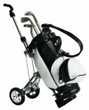 Colin Montgomerie Collection Mini Trolley mit Golfbag und Stiften