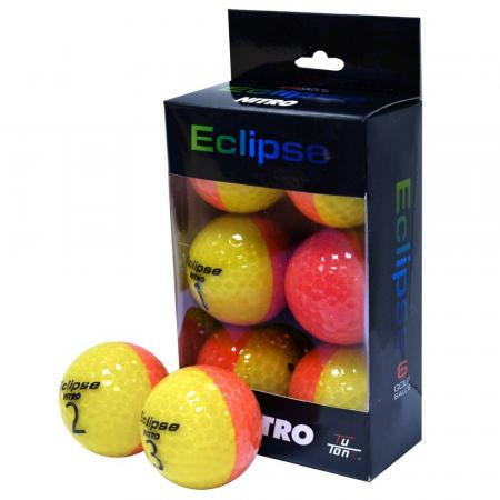 Nitro Eclipse Golfball, 6 Stück, orange/gelb