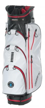 *2. WAHL!* Shift Golf C5 Waterproof Cartbag, weiß/schwarz/rot