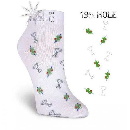 K. Bell Damen-Golfsocken 19th Hole, weiß