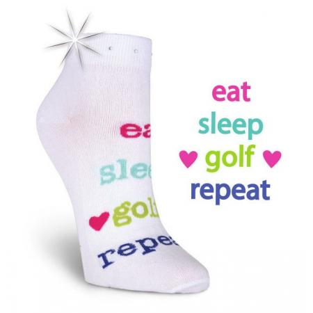 K. Bell Damen-Golfsocken Eat-Sleep-Golf-Repeat
