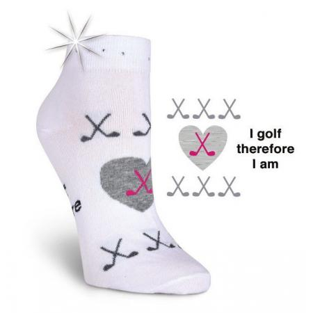 K. Bell Damen-Golfsocken I golf therefore I am