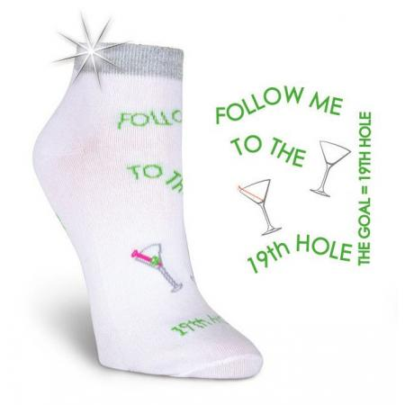 K. Bell Damen-Golfsocken Follow me