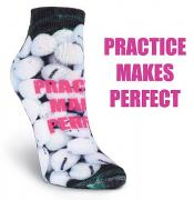 K. Bell Damen-Golfsocken Practice makes perfect