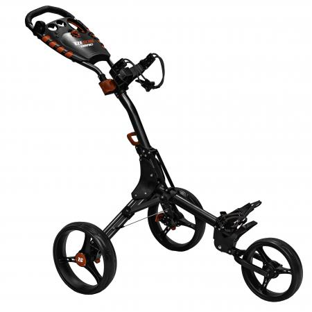 Eze Glide Compact+ 3-Rad Trolley, schwarz/rot