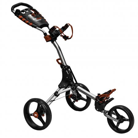 Eze Glide Compact+ 3-Rad Trolley, silber/rot