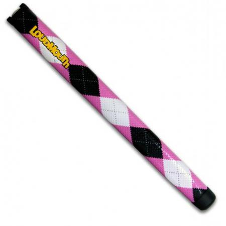 Loudmouth Putter Griff Pink & Black Argyle