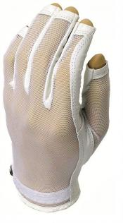 Evertan Three-Quarter Damen Sonnenhandschuh, White Pearl, links (für Rechtshänder), M