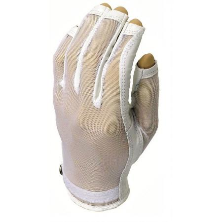 Evertan Three-Quarter Damen Sonnenhandschuh, White Pearl, links (für Rechtshänder), XL