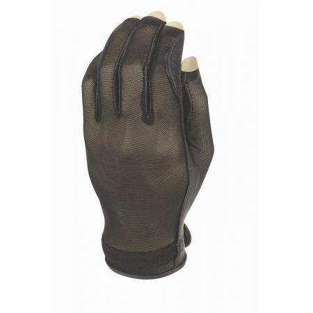 Evertan Three-Quarter Damen Sonnenhandschuh, Black Pearl, links (für Rechtshänder), M