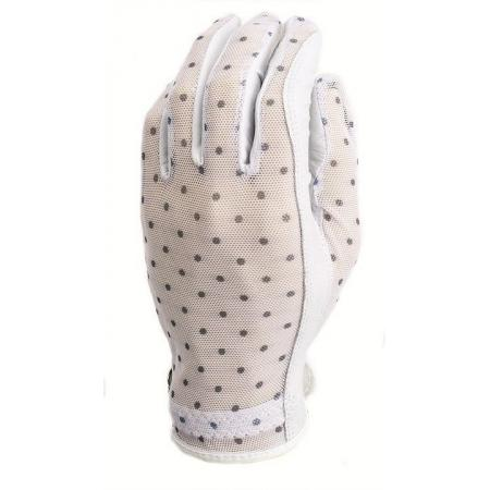 Evertan Damen Sonnenhandschuh, Black & White Dots