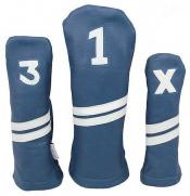 Sunfish Leder Headcover Ace, blau/weiß, 3er Set