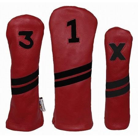 Sunfish Leder Headcover Ace, rot/schwarz, Fairwayholz