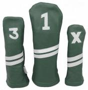 Sunfish Leder Headcover Ace, grün/weiß, 3er Set
