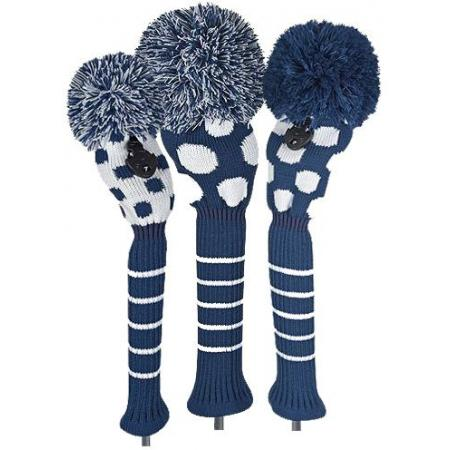 Bommel Strick Headcover, marineblau, 3er Set