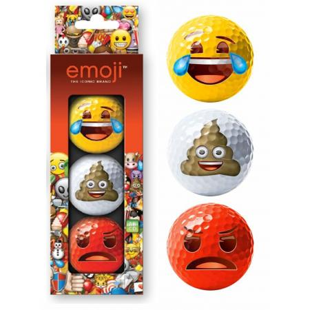 Emoji® 3er Golfball-Set