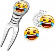 Emoji® Divot Tool Set, Laughing