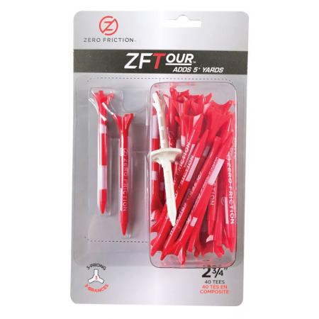 Zero Friction ZF Tour Golftees 69mm, rot