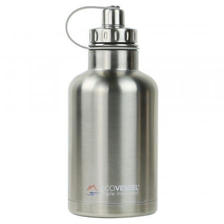EcoVessel Boss Growler Thermo Trinkflasche 1900ml, silber