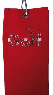 cbfmoda Golftuch &quote;Golf&quote;, rot